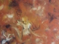 """Fokus og balance"" - akryl/grafit på lærred - 40x40x2 cm"